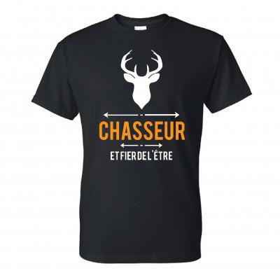 """Chandail Modèle """"Chasseur & Fier de l'être"""" T-Shirt"""