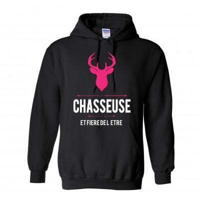 """Chandail Modèle """"Chasseuse & Fière de l'être"""""""