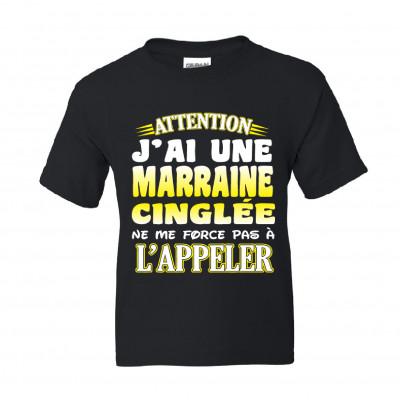 """Chandail Modèle """"Marraine Cinglée"""" T-Shirt"""
