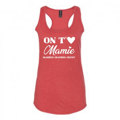 "Camisole ""Mamie on t'aime"" Personnalisable"