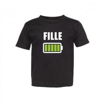 "T-Shirt Enfant ""Batterie Fille"""