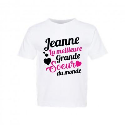 """T-Shirt Enfant """"Meilleure grande soeur"""""""