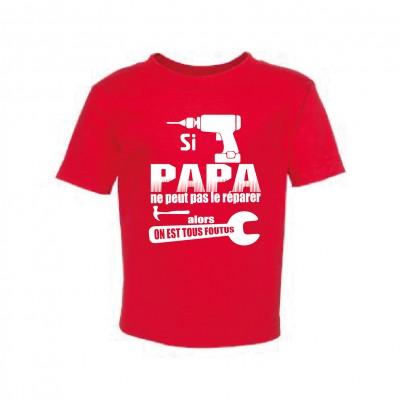 "T-Shirt Enfant ""Si Papa"""
